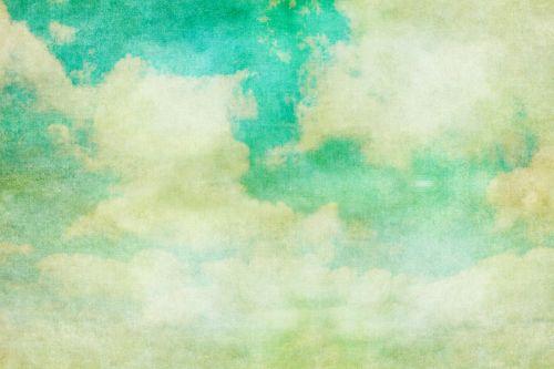 Clouds Vintage Painting