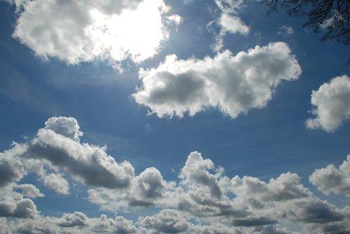 cloudscape  sun  sky