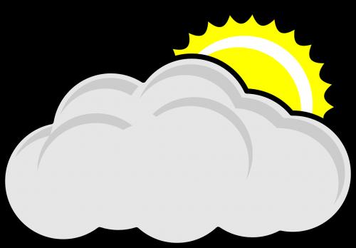 cloudy sun nature
