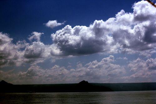 debesys, debesuota & nbsp, dangaus, mėlynas & nbsp, dangus, gamta, dangus, Debesuota, kalnas, vandenynas, vanduo, papludimys, jūra, tapetai, fonas, debesuota diena 2