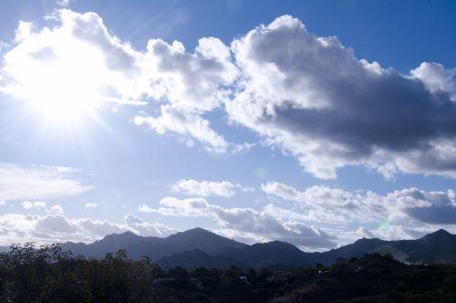 Cloudy Sky Sunburst