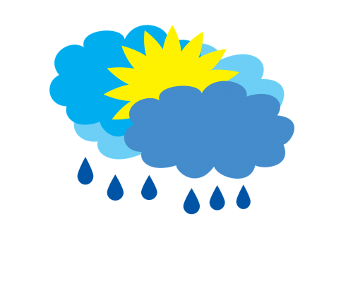 cloudy with rain weather forecast partly cloudy