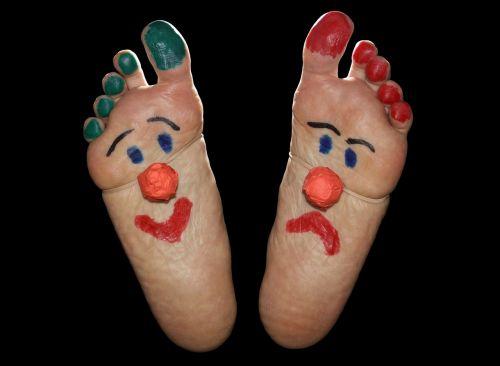 clown feet foot