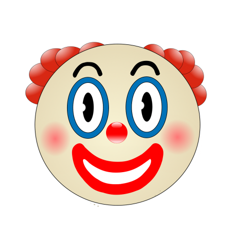 clown funny make up