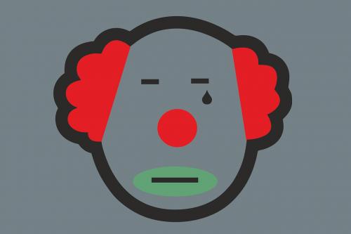 clown tear sadness