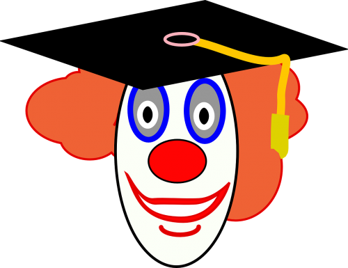 clown graduation graduate