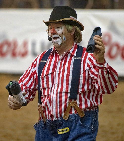 clown  bull  bull rider