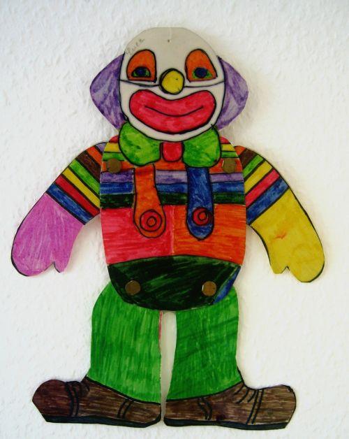 clown drawing children drawing