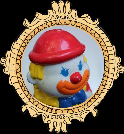 Clown Face Framed