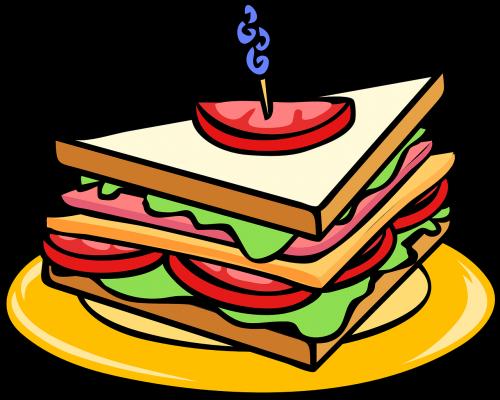 club sandwich triangle food