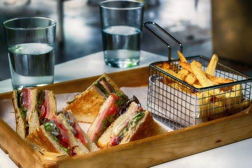 club sandwich  fast food  snack