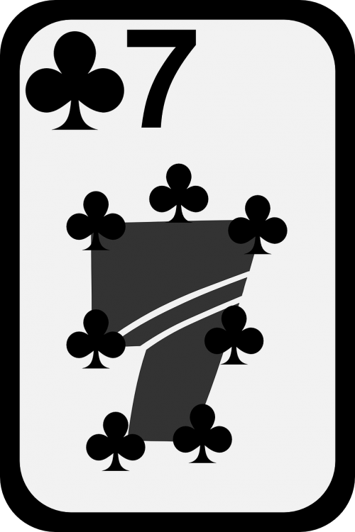 clubs seven card