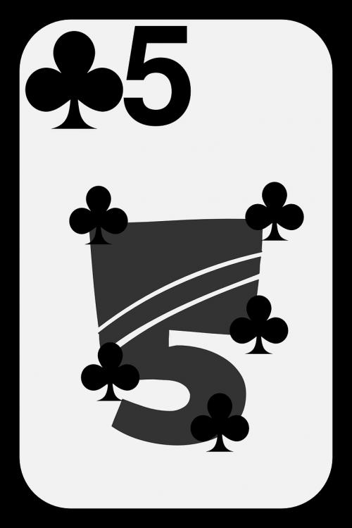 clubs card five