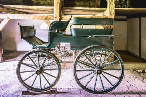 coach wooden coach horse drawn carriage