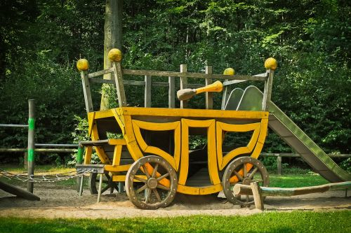 coach playground wood
