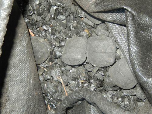 coal black bag of coal