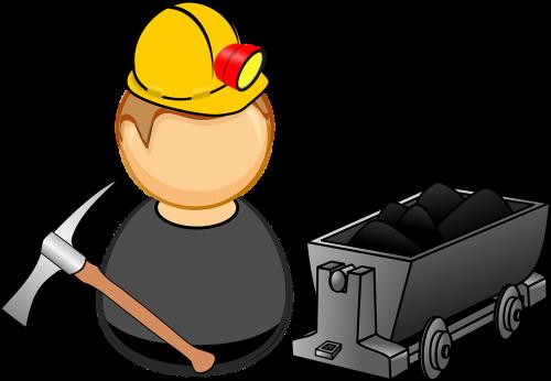 coal comic characters digging