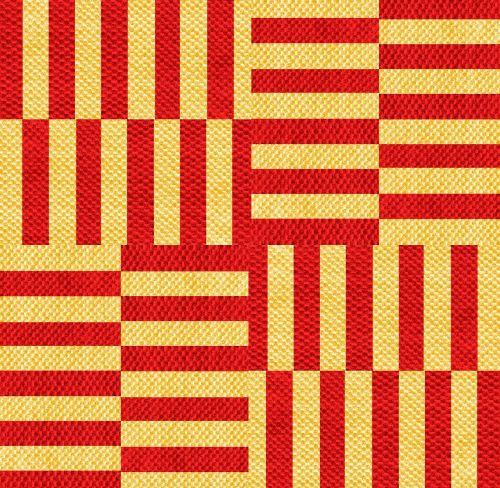 coarse fabric red