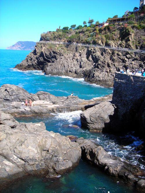 coast rocky sea