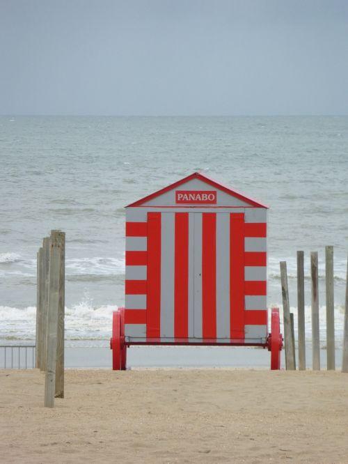 coast belgium beach hut
