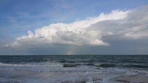 coast sea clouds