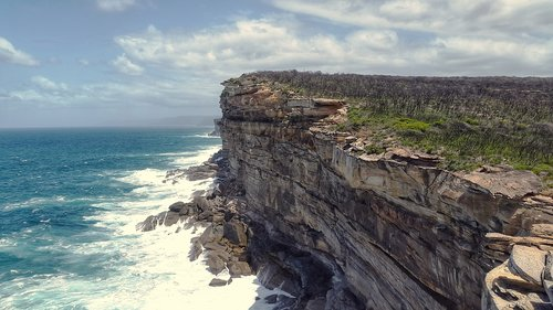 coast  ocean  cliffs