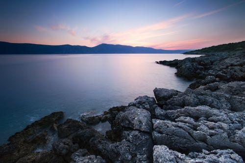 kranto,Krantas,akmenys,vanduo,jūra,vandenynas,vakaras,scena,twilight,dusk,ramus,ramus,taikus,horizontas,jūros dugnas,pakrantė