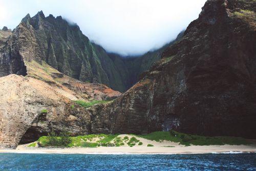 coast rocks mountains