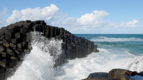coast rough seas stormy