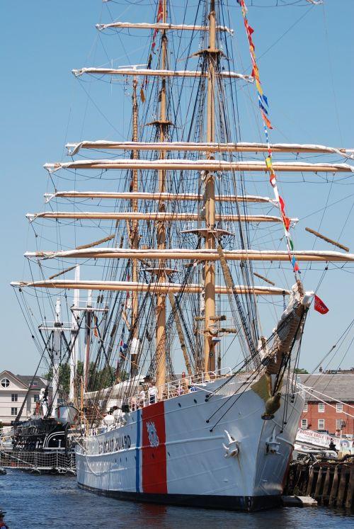coast guard ship tall ship ship