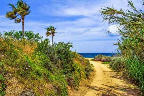 coastal path,landscape,scenery,trail,countryside,nature,mediterranean,kapparis,cyprus