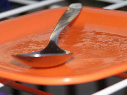 coaster spoon orange