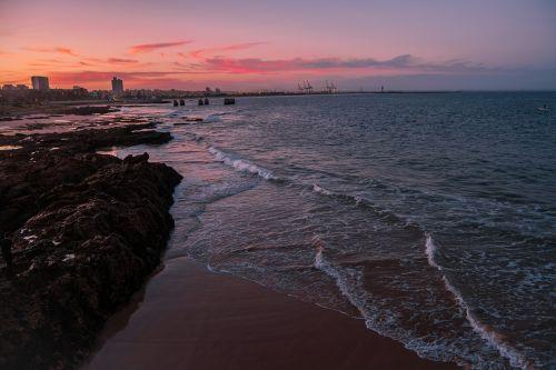 coastline sunset beach