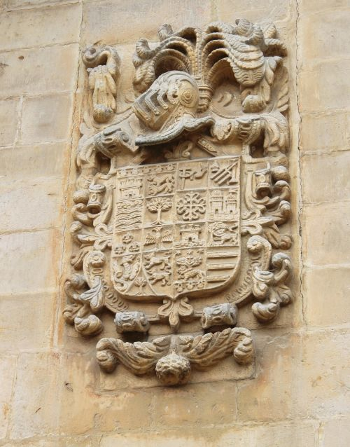 coat of arms stone relief northern spain