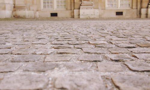 cobblestone street road