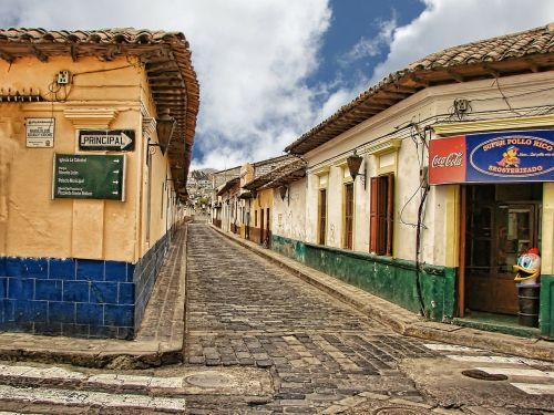 cobblestone street guatemala central america