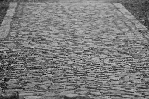 cobblestones away paved