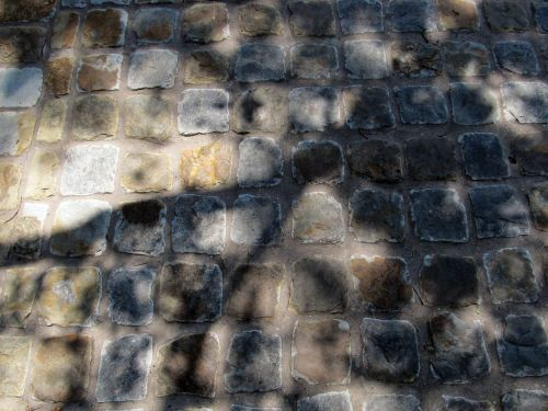 cobblestones roadway bricks