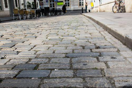 cobblestones paving stones pedestrian zone