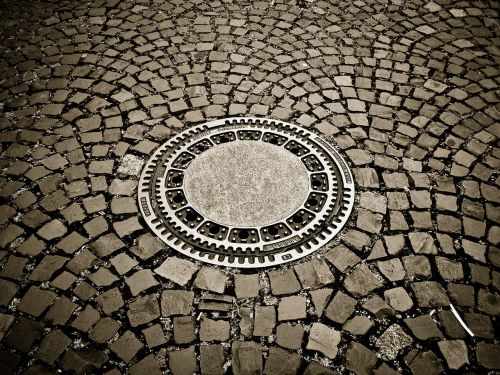 cobblestones road paving stones