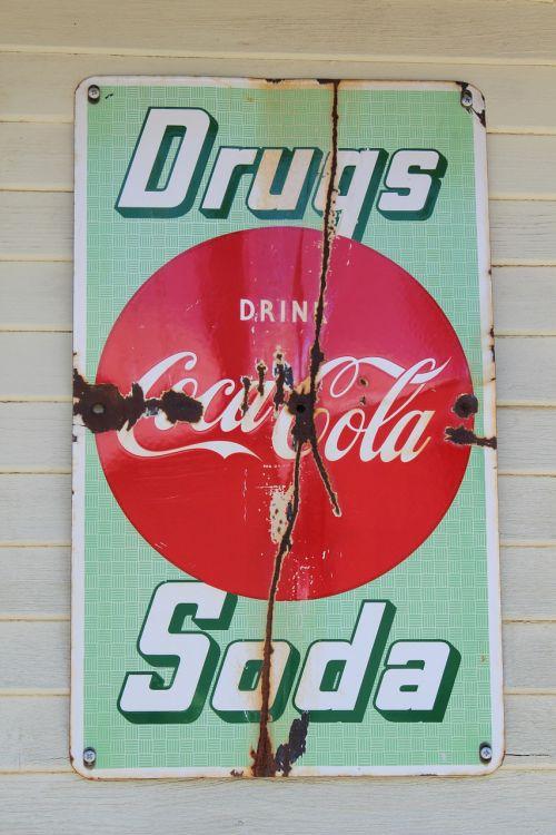 coca cola signs antique