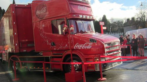 Coca-Cola Lorry Visits Tavistock