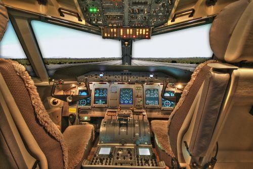 cockpit plane airplane