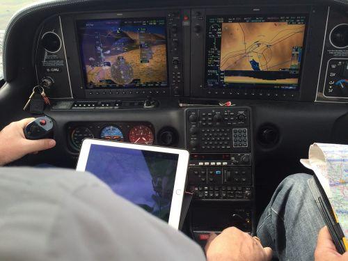 instrument panel plane fly