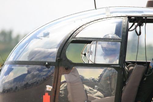 Cockpit  Windows Of Alouette Iii