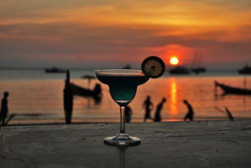 cocktail beach sunset