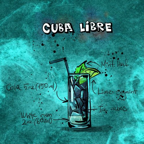 cocktail cuba libre alcohol