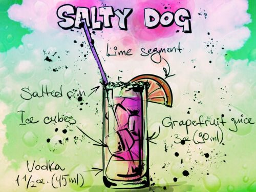 cocktail salty dog alcohol
