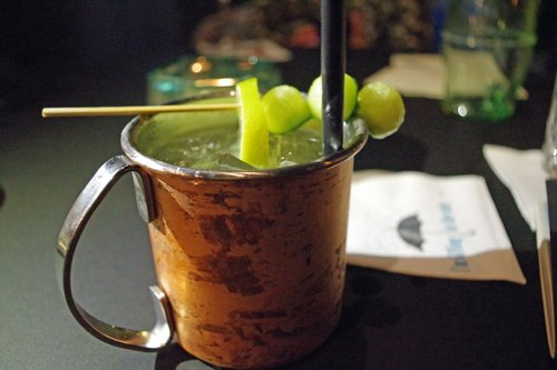 cocktail  moscow mule  cup