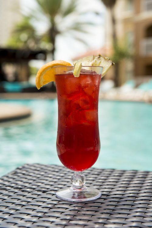 cocktail drink poolside